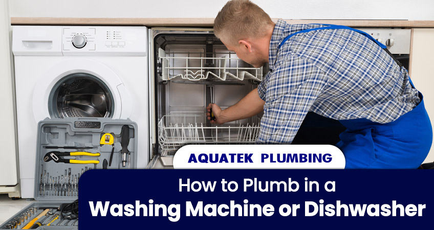 How to Plumb in a Washing Machine or Dishwasher