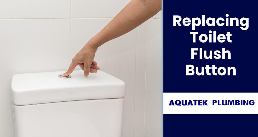 replace fix toilet flush button